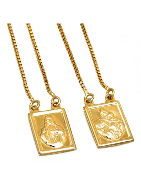 Escapulário N S do Carmo Banho em Ouro 18 k - 1050001
