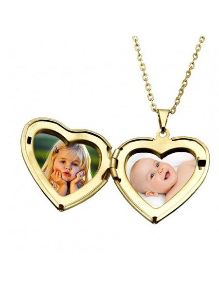 Gargantilha Pingente Relicário Baby Banhado Ouro 18 k - 1060008