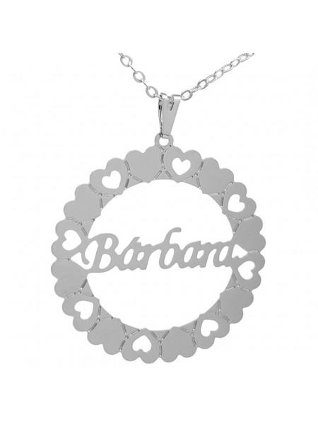 Gargantilha Pingente Mandala Manuscrito BÁRBARA Banho prata 1000 - 2060135