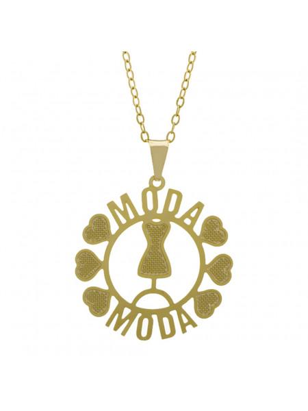 Gargantilha Profissões Pingente MODA Banhada Ouro Amarelo 18K - 1061271