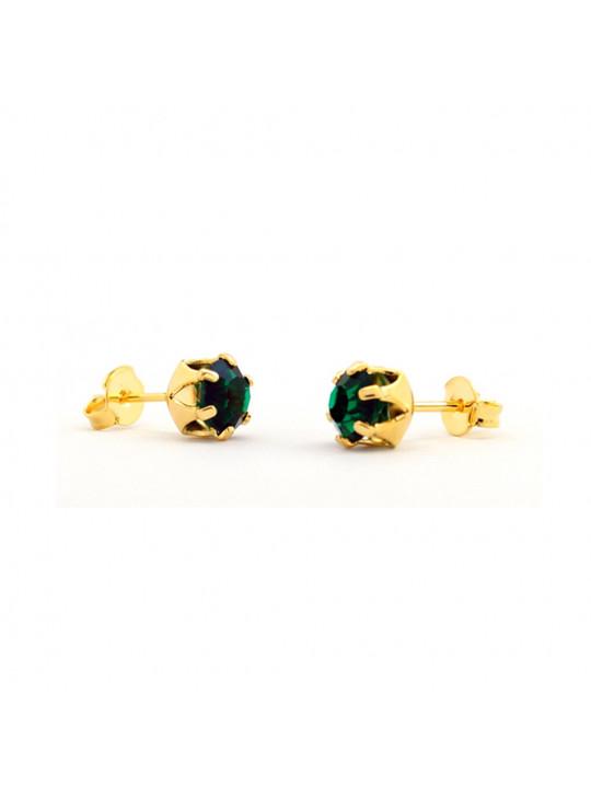 Kit Horus Import 2 Brincos Ponto de Luz - Banhado em Ouro 18 K - KIT10559