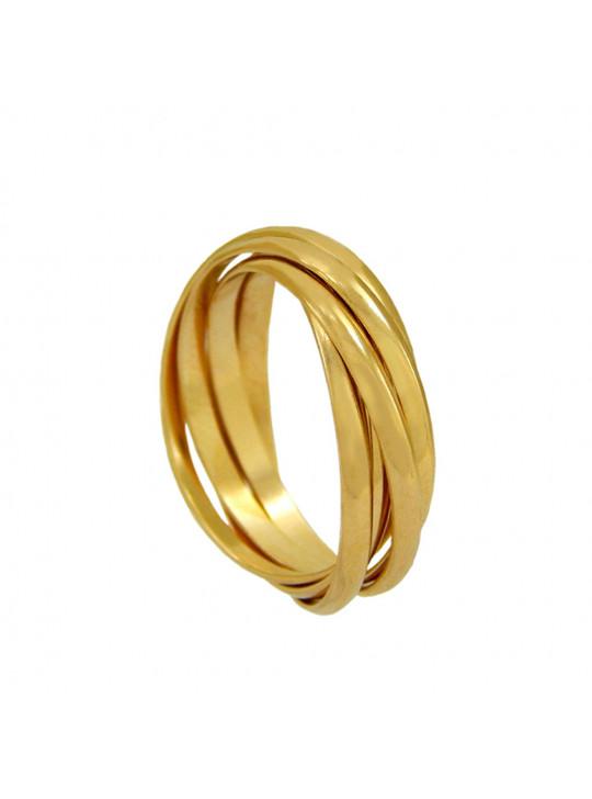 Kit Anel Gargantilha Banhado Ouro 18 k - KIT16390