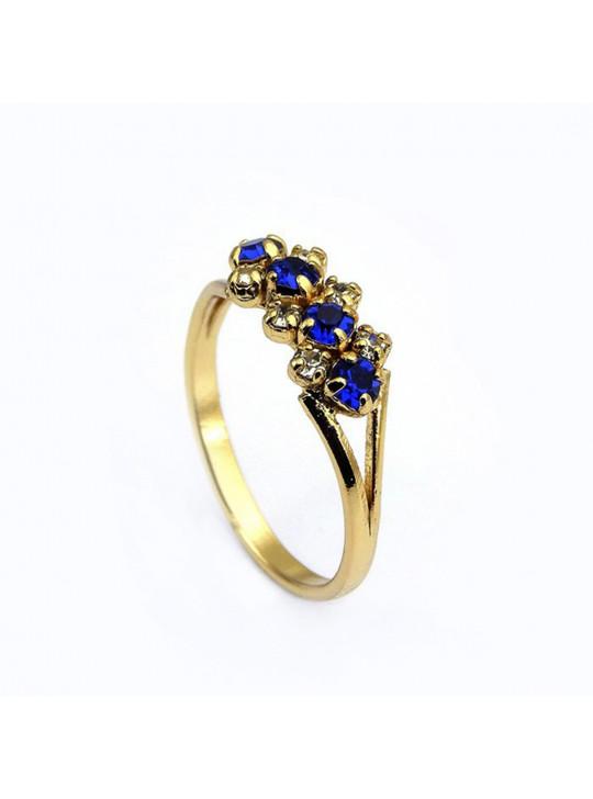 Kit Horus Import Cristal Quadrado - Gargantilha Pingente - Brincos - Anel - Banhado Ouro 18k - KIT10541