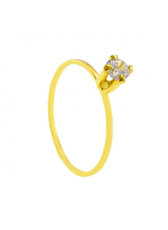 Conjunto Girassol Gargantilha Solitário Brincos Meia Aliança Verde Esmeralda Banhado Ouro Amarelo 18 k - KIT16444