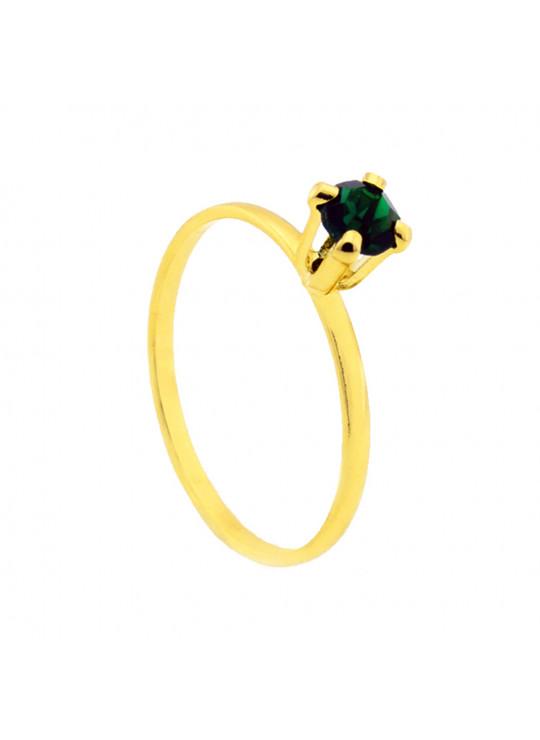 Kit Verde Esmeralda Banhado Ouro 18k - KIT16482