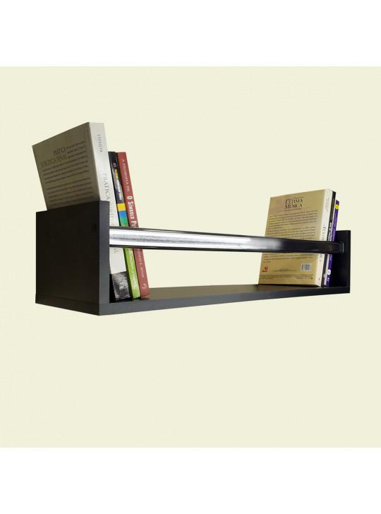 Prateleira U para Livros Marce Forming Preto65x15x20cm 100% MDF - 1100007