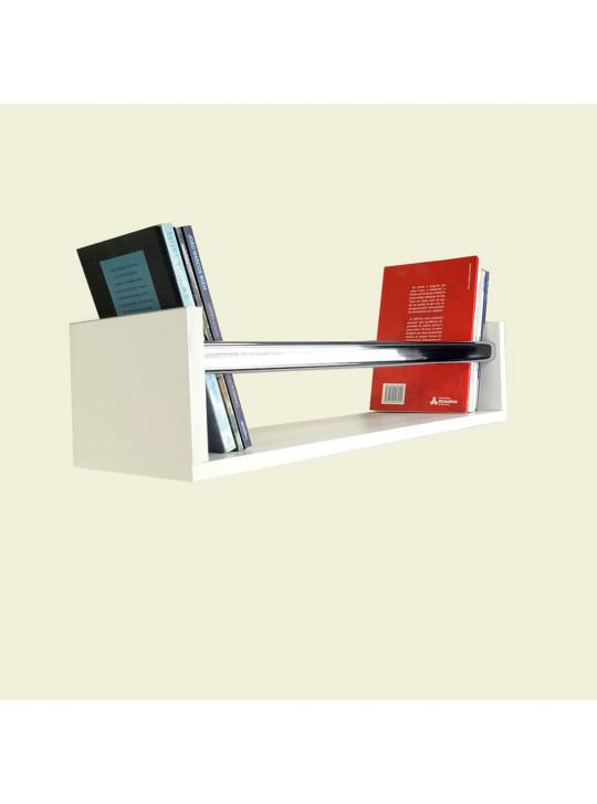 Prateleira U para Livros Marce Forming 55x15x20 cm 100% MDF Branco- 1100010