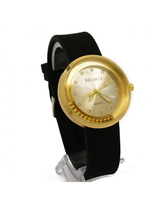 Relógio Feminino Golden & Co 43300 Analógico Relog's Preto - REL19101