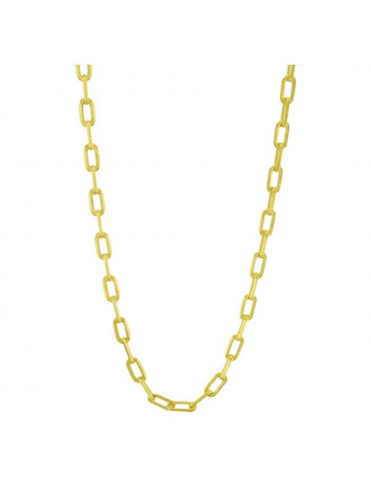 Corrente Gomo Modelo Cartier 45 cm Banhada Em Ouro Amarelo 18 k - 1050005