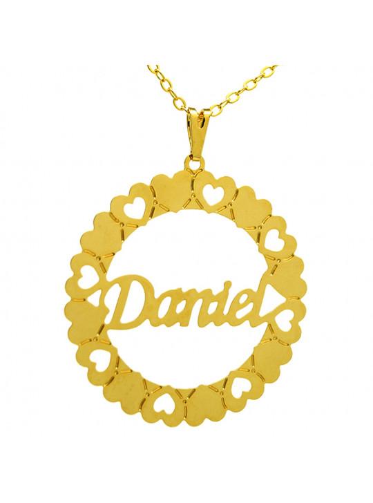 Gargantilha Pingente Mandala Manuscrito DANIEL Banho Ouro 18 K - 1060037