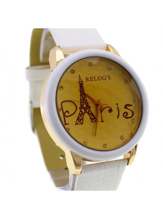 Relógio Feminino Paris III Branco 32063 Analógico Relog's - REL19108