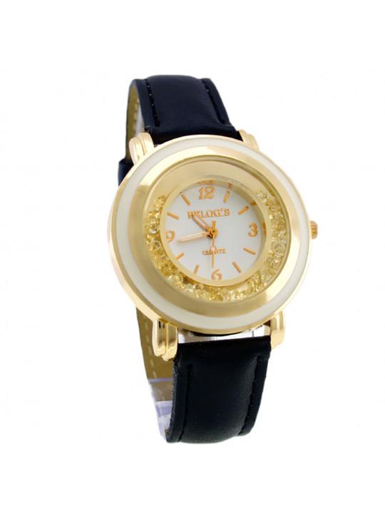 Relógio Feminino Gold 32050 Analógico Relog's Preto - REL19110