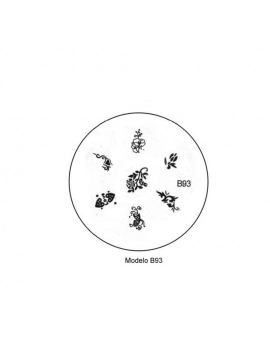 Placa Personalização Unhas B93 - Desenhos Artísticos-UNH10007